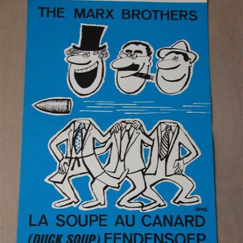 'Duck Soup' (The Marx Brothers) (reissue) Belgian affichette