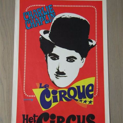 'Le cirque' (The circus-reissue unknown) Belgian affichette