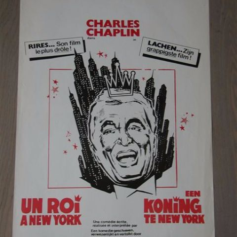 Un roi a New York' (A king in New York) Belgian affichette