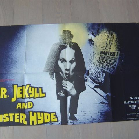 'Dr. Jekyll and sister Hyde' (director Roy Ward Baker) U.K. one-sheet