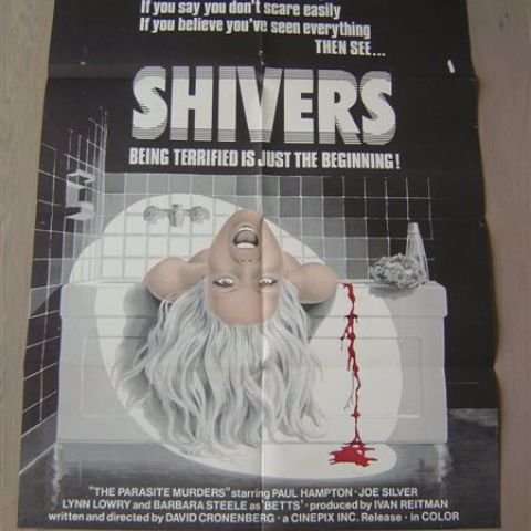 'Shivers' (The parasite Murders) (director David Cronenberg) int'l one-sheet