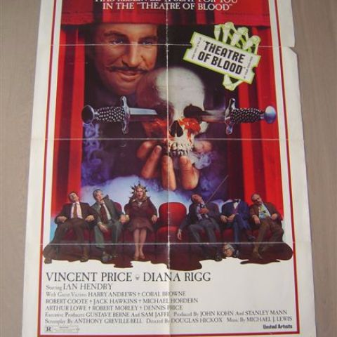 'Theatre of Blood' (Vincent Price) U.S. one sheet