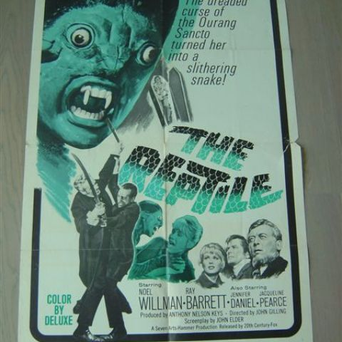 'The reptile' (director Freddie Francis) Peter Cushing) 1966 int'l one-sheet