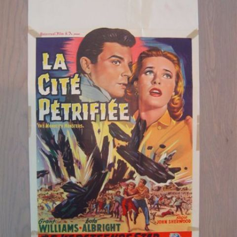 'La cite petrifee' (The monolith monsters) Belgian affichette