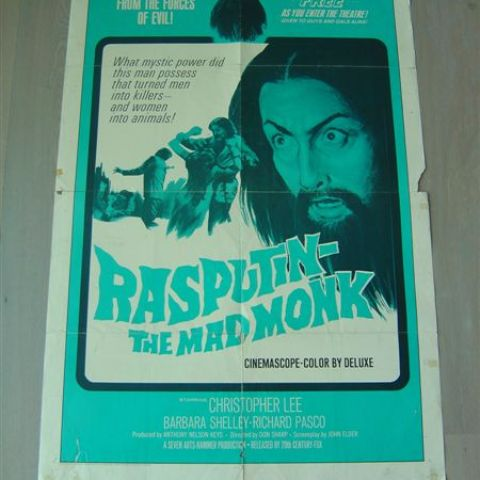 'Rasputin, the mad monk' (get your Rasputin beard free with each admission!) 1966 U.S. one-sheet