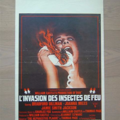 'L'invasion des insectes de feu' (Bug) (producer William Castle) Belgian affichette