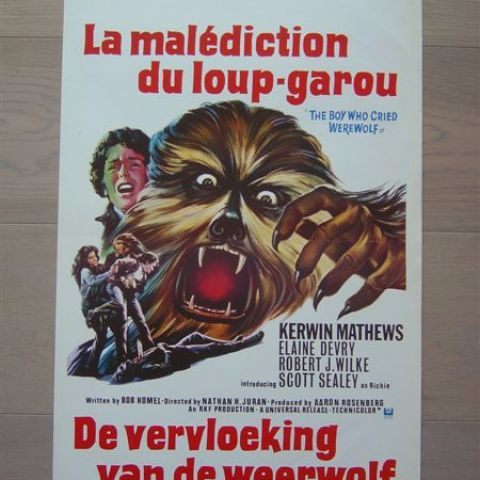 'La malediction du loup-garou' (The boy who cried werewolf) Belgian affichette