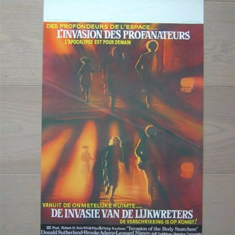 'L'invasion des profanateurs' (L'incasion of the bodysnatchers) (director Philip Kaufman) Belgian affichette