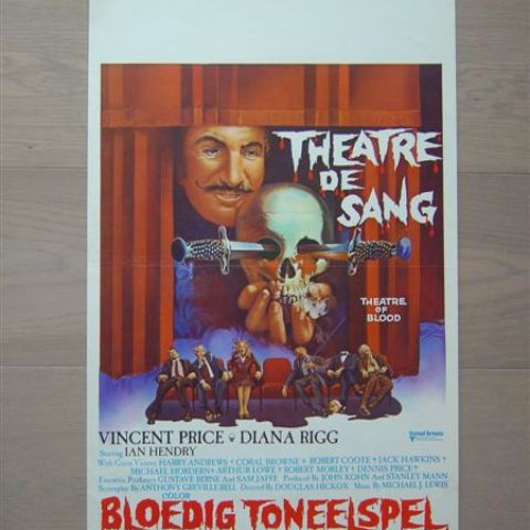 'Theatre de sang' (Theatre of Blood) Belgian affichette