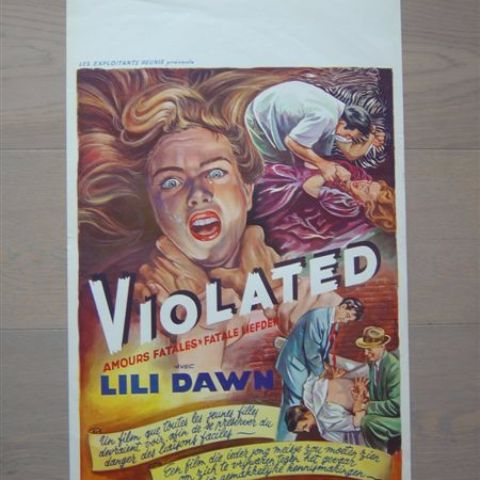 'Violated' (Lili Dawn) Belgian affichette